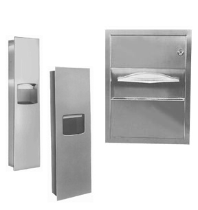Commercial Bathroom Paper Towel Dispenser paper towel dispenser and waste receptacle combination units for