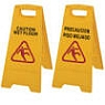 bilingual caution signs for web floors